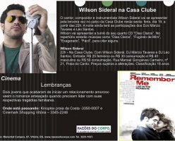 Wilson Sideral na Casa Clube